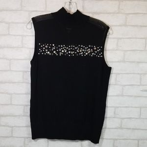 Cable & gauge black Sleevless blouse size M